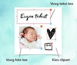 Zelf geboortekaartjes online maken in de super handige editor bij hipDesign!